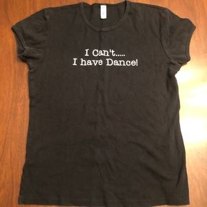 bella Shirts & Tops - Dance T-Shirt - adult size XL RUNS SMALL